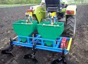 Посадка картофеля мини трактором