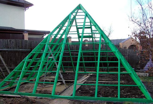 Каркас теплицы пирамиды